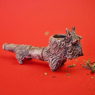 Трубка для курения в виде терьера
