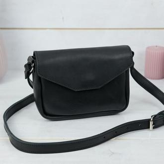 Кожаная женская сумочка Лилу, кожа итальянский краст, цвет  черный
