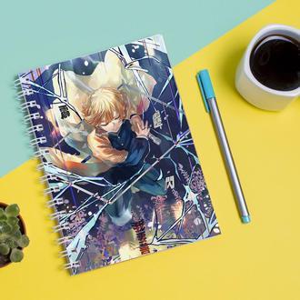 Скетчбук Sketchbook для рисования с принтом Zenitsu Agatsuma
