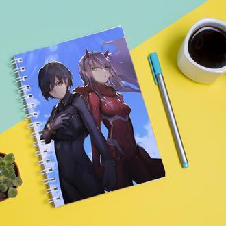 Скетчбук Sketchbook для рисования с принтом Zero Two-Ноль два