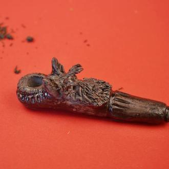 Трубка для курения собака терьер