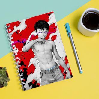 Скетчбук Sketchbook для рисования с принтом Аниме Пламенная бригада пожарных, Enen no Shouboutai 2