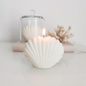 "Интерьерная соевая арома свеча ""Shell"""