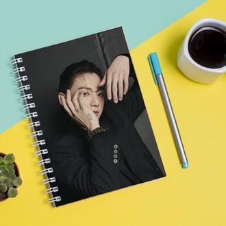 Скетчбук Sketchbook для рисования с принтом Твой похититель Чон Чонгук - Jungkook Jeon 2