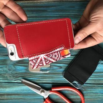 Шкіряний Чехол-гаманець для iphone 6, 6+, 7, 7+