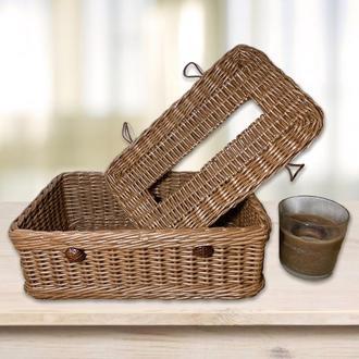 Плетёная Коробка-салфетница