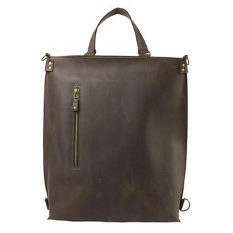 Кожаный рюкзак-трансформер. 01009/коричнеый