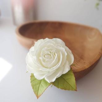 """Резинка-заколка """"Роза"""""""