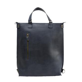 Кожаный рюкзак-трансформер. 01009/синий