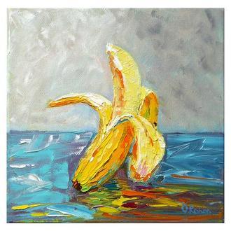 Авторська картина олією, банан