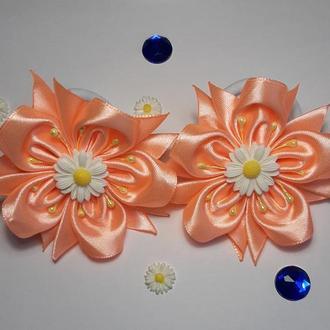 Резиночки канзаши цветок (39)