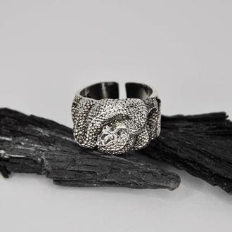 Серебряное кольцо Змея