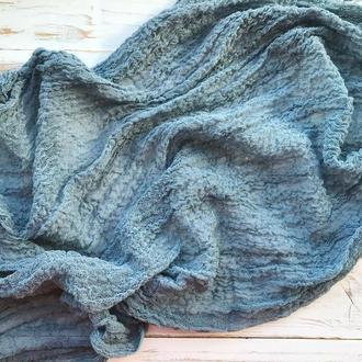 Марля для фотосессий НОВОРОЖДЕННЫХ ,цвет Пыльно-синий( dusty blue)
