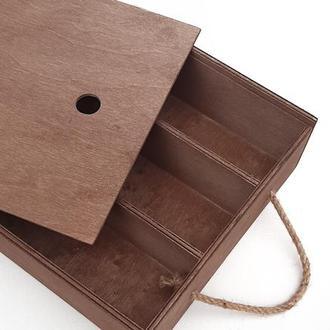 """Ящик деревянный для вина """"Wine Maxi"""". Подарочный ящик. Деревянная коробка для подарка"""