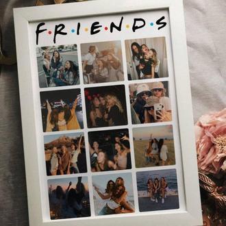 "Постер подарунок на 12 фото для подруги в стилі ""Friends"""