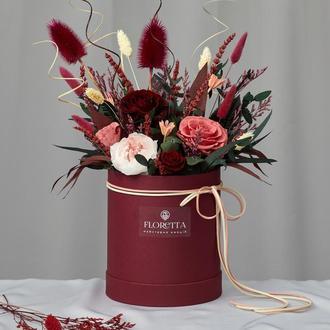 """Букет """"Королівська розкіш"""" живих стабілізованих долгосвежих троянд"""