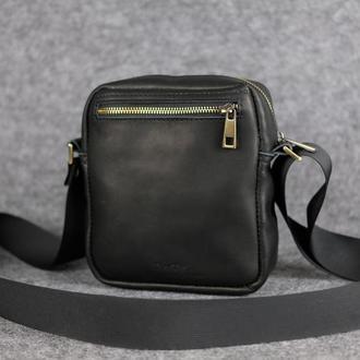 Компактная мужская сумка через плечо |10172| Черный