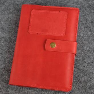 Именная обложка для ежедневника А5 |10581| Красный