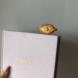 Вкусная скрепка-закладка из полимерной глины