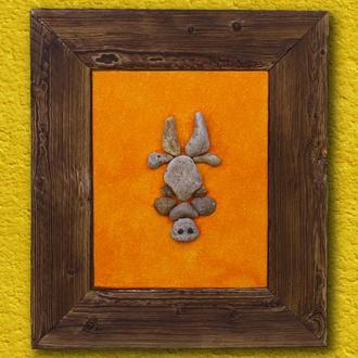 БЫК. Создание из камней. Знак зодиака БЫК. Натуральный декор стены. Краски и камень в интерьере
