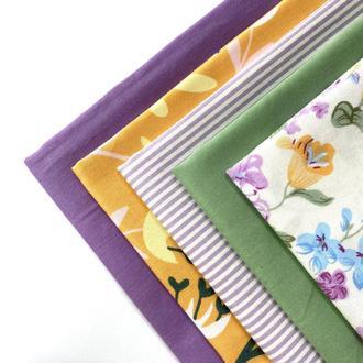 Набор тканей для рукоделия, отрезы хлопка 50х40, Тканини для рукоділля
