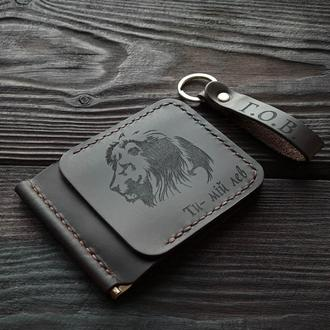Зажим для купюр с гравировкой льва