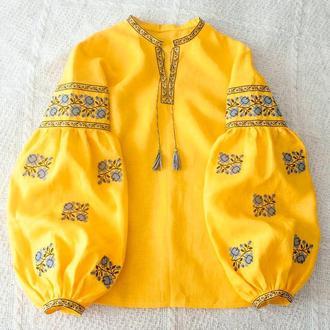 Яскраво жовта сорочка