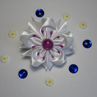 Резиночки канзаши цветок (55)