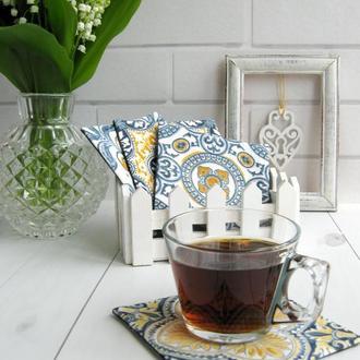 Водоотталкивающие костеры, набор подставок под чашку (4шт)