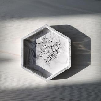 Подсвечник шестиугольник - подставка под свечи, для мелочей