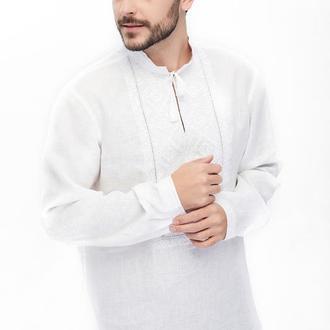 Сорочка чоловіча Білосвіт святковий (льон білий)