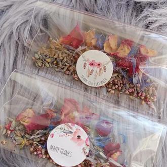 Сухоцветы цветы лепестки бутоны розы лаванды василёк вереск для декора свечей мыла косметики 2г