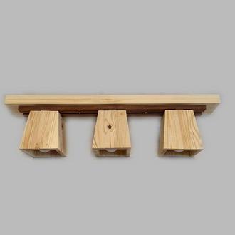 Светильник потолочный деревянный. Люстра для детской