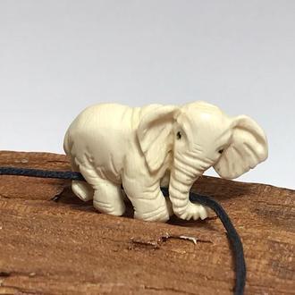 """Подвес кулон  """"Слон"""" из бивня мамонта"""