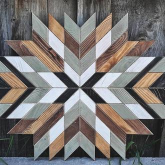 Деревянное панно. Настенный деревянный декор. Панно в скандинавском стиле