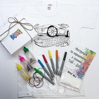 Набор для окрашивания одежды в стиле Тай-Дай + раскраска 2 в 1