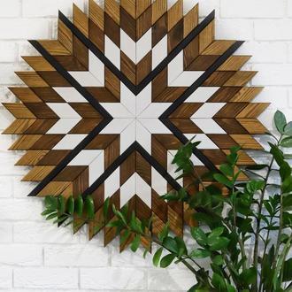 Панно деревянное. Настенный декор. Декоративное панно в скандинавском стиле