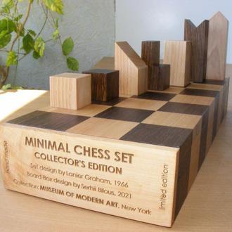 Коллекционный минималистичный шахматный набор.