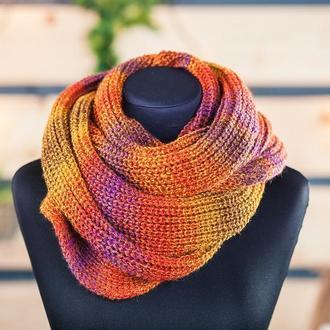 Снуд шарф в два оборота