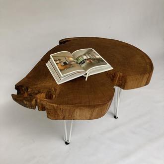 Столик из среза дерева