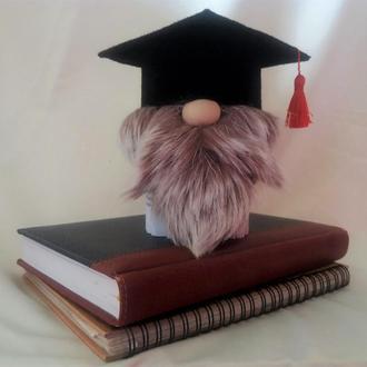 Гном из книжных страниц. Подарок выпускнику. Подарок учителю.