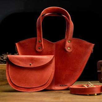 Набор красная сумка с органайзером Сумка 3в1