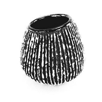 Маленькая цветочная ваза. Черно-белый Керамический горшок ручной работы.