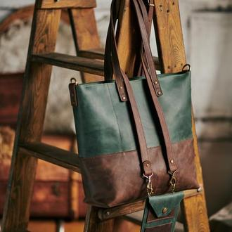 Шопер 2в1 і маленька сумочка з плечевим ременем Якість люкс