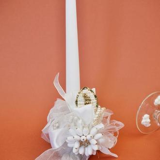 Свічка для Причастя з авторською прикрасою
