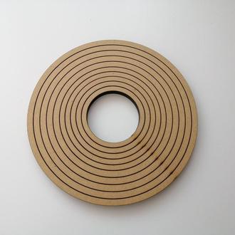 Дерев'яна заготовка, основа - кільце для ловця снів, мобіля, макраме.  Діаметр 23 см, товщина 8 мм