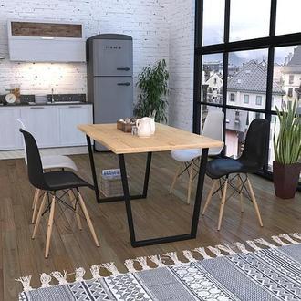 Комплект опор для стола Трапеция Loft Design усиленные толщина метала 2мм Черный (10022LP)