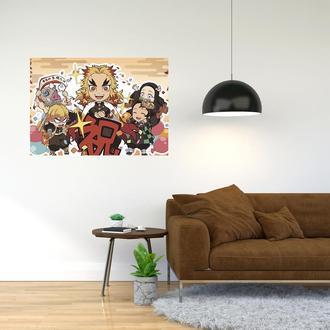 Плакат-постер А3 с принтом Demon Slayer - Клинок, рассекающий демонов 6