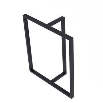 Опора для стола Loft Design Тетра усиленная толщина метала 2мм Черный (1003LP)