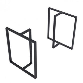 Комплект опор для стола  Loft Тетра Design усиленные толщина метала 2мм Черн